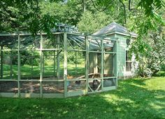 Bunny Williams chicken coop and run