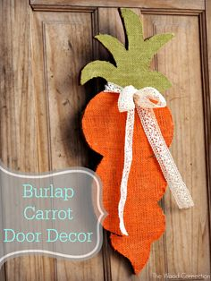 Burlap Carrot | The Wood Connection Blog