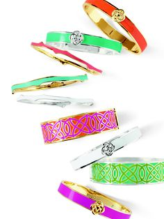 Becoming slightly obsessed with Coloured-enamel bangles!
