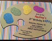 Art Palette Invitation