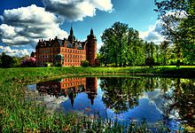 Vallø Castle (Danish: Vallø Slot) is a manor house located 7 km south of Køge, in Stevns Municipality, on the island of Zealand in Denmark. It now serves as a residence for unmarried, widowed and divorced women of noble decent.