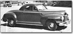 1942 DODGE DELUXE, D-22: Series names were changed to Custom and Deluxe. Running boards were concealed, and an interesting option was a buzzer that sounded if the car was driven with the handbrake on. 68,522 Dodges were built until Dodge converted entirely to wartime production in the spring of 1942, turning out hundreds of thousands of vehicles for the Armed Forces by 1946.