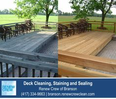 http://branson.renewcrewclean.com – This beautiful backyard deck is even more enjoyable after a deck cleaning by Renew Crew of Branson. Our 3-step process cleans and protects your deck making it look like new. We serve Branson and surrounding areas. Free estimates.