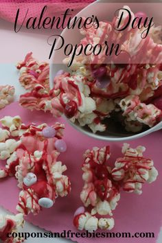 Valentine's Day Popcorn! Easy and delicious homemade Valentine's day gift! Perfect for parties too!