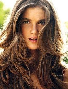 medium tone brown hair with dark to light blonde highlights