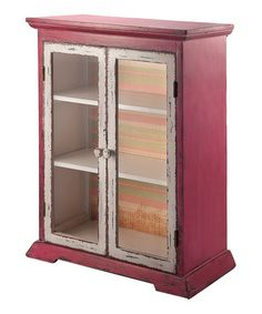 Rustic Cabinet by Foreside - so sweet.