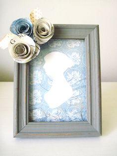 shabby chic, frames, gray frame, blue jane, austen silhouett, silhouettes, jane austen, frame shabbi, blues