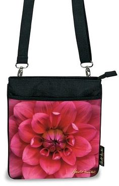 Harold Feinstein Hot Pink Dahlia Cross Body Bag - Cross-Body Bags