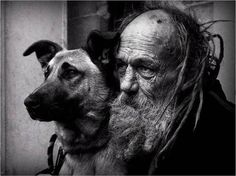 old man and dog