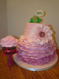 girly, frog cake