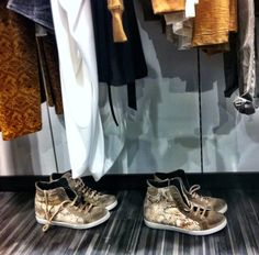 Sneakers have conquered our stores! #BSB_stores #BSB_FW14 #new #collection #sneakers #snake_print