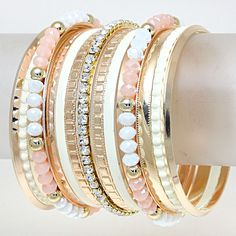love the layered bangles!