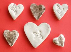 Clay Heart Stamped Love Tokens