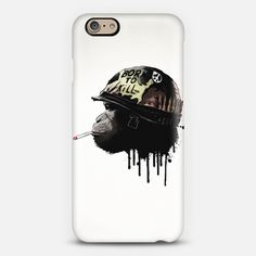 Born To Kill iPhone 6 case #iphone #case #iphonecase #war #movie #born #kill #full #metal #jacket #monkey #chimp #gorilla #animal