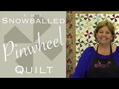 Snowballed Pinwheel Quilt.  Uses Charm Packs