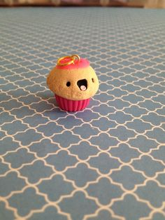 Cute Pink Cupcake charm made by Marshfellows