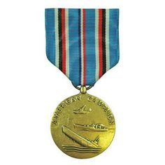 The American Campaign Medal - WWII (ACM) is granted to personnel who served one year of consecutive duty between December 7, 1941 to March 2, 1946 and within the continental boarders of the U.S., as well as to those who served 30 consecutive or 60 non-consecutive days of duty outside the borders of the U.S. but within the American Theater of Operations.