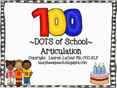 100 Dots of School - pinned by @PediaStaff – Please Visit ht.ly/63sNtfor all our pediatric therapy pins