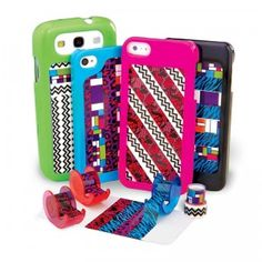 This kit lets kids customize cases for their favorite tech gadgets using five rolls of decorative tape.