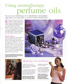 Using aromatherapy perfume oils