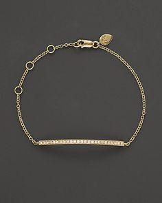 Meira T 14K Yellow Gold Diamond Bar Bracelet | Bloomingdale's