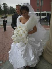 My Husband Helping Me - Taking Photos outside the Sacred Heart Cathedral in Richmond, Virginia