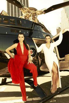 Kourtney and Kim Kardashian [Photo by Timothy White]