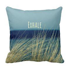 Exhale Calming Ocean Scene Pillows