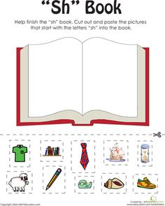First Grade Phonics Worksheets: 'Sh' Words: A Word Family Book