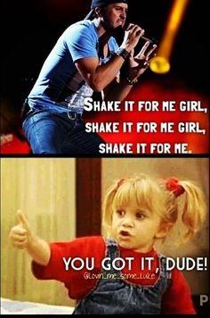 Hahaha funny! #LukeBryan