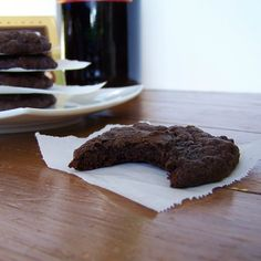 Dark Chocolate Merlot Cookies ...Chocolate & Wine together..can't go wrong!