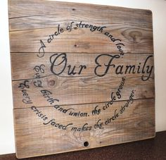 Rustic reclaimed barn wood sign Our family by JMSouthernSigns, $35.00