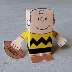 favor peanut, charlie brown crafts, charli brown, toyaday, favor, paper brown, paper toys