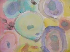"""art project - Dot paintings inspired by """"The Dot"""" by Peter Reynolds"""