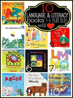 10 Language and Literacy Books 3-6 Year Olds Will Love | Tipsaholic.com #kids #reading #books #literacy