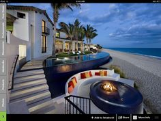 Infinity and fire pit
