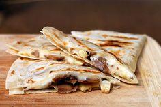 dinner, food blogs, camping foods, campfire recipes, quesadilla