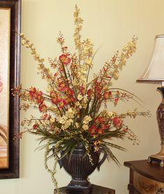 Home Decor Silk Floral Arrangements | Floral Home Decor, silk rose arrangements, tulip floral arrangements ...