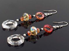 Celebrate in style with these Precious Party Dangles. With this helpful tutorial, you will learn how to make dangles that are perfect for any special occasion. The vivid warm colors lend themselves perfectly for the fall season.