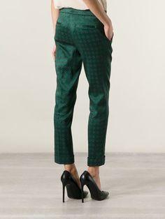 Shop ETRO geometric trousers from Farfetch