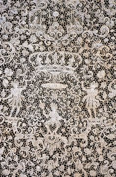 Detail, Flounce. Point de France needle lace. 17th century. France. Linen. The Baltimore Museum of Art: The Cone Collection.