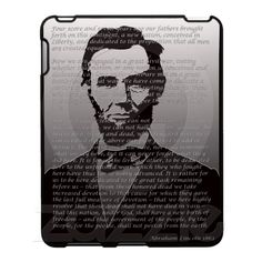 Abraham Lincoln Gettysburg Address Ipad Covers from Zazzle.com