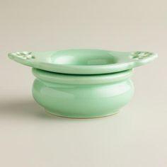 One of my favorite discoveries at WorldMarket.com: Aqua Ceramic Tea Strainer