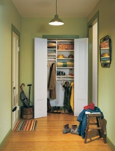 inspiration for entryway closet.