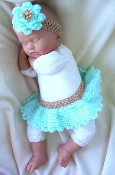 Newborn crochet Crochet Tutu diaper cover and by ParesCreations, $25.00