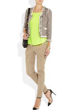Rebecca Taylor|Sequin-trimmed bouclé-tweed jacket|NET-A-PORTER.COM