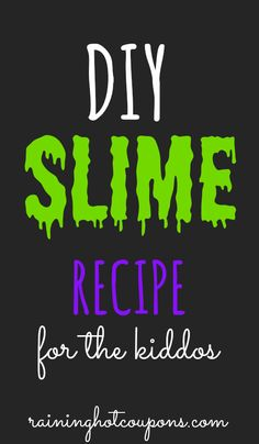 DIY Play Slime For Kids Recipe! (Click Image)