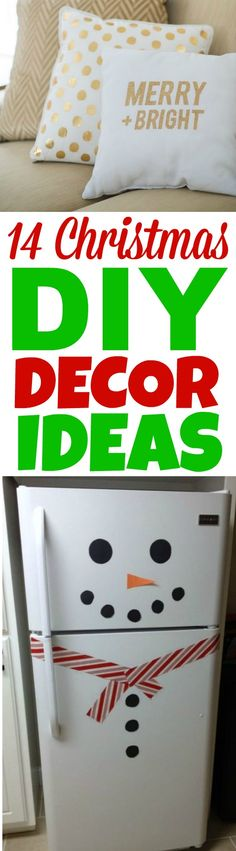 I love DIY Home Decor and especially Christmas DIY Decor ideas. You  can make any of these 14 awesome DIY Christmas Decor projects in a weekend. #christmas #diychristmas #holidays #diyholidayideas  #diychristmasideas #diychristmasdecor #diychristmasgiftideas #christmascrafts  #christmaskidcrafts #diygiftideas #christmasdiy #christmascrafts #diychristmasideas