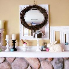 Easter / Spring Decorating - Fireplace Mantle ideas