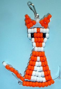 fox - pony beads